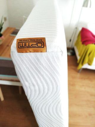 colchón viscolate semi nuevo + somier 135x190
