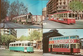 Postales tranvías de Barcelona