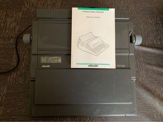 Máquina de escribir Olivetti PTP 820