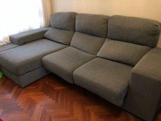 Sofá Chaise longue Gris como nuevo