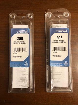 Memorias RAM 4GB 800MHz DDR2 MAC Apple