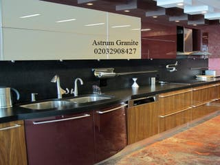 Absolute Black Flamed Granite Kitchen Worktop UK