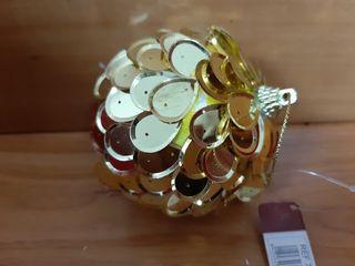 lote 5 cajas por 6 bolas oro 90 mm. artículo nuevo