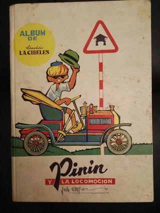 Álbum Pinín y la locomoción. Incompleto