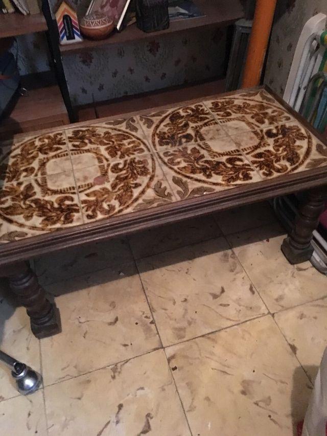 Mesa de centro antigua vintage