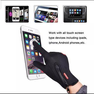 guantes para ir en bici o para el frio touchscreen