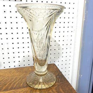 Antique Glass Flower Base
