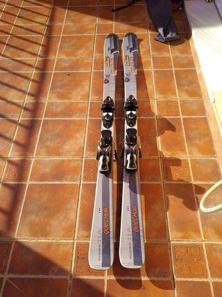 Esquís alpinos, de pista, + Botas de esqui