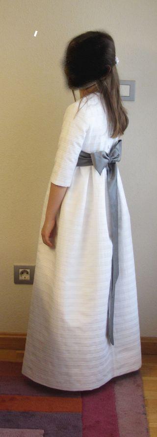 Vestido comunion bolsa cabeza