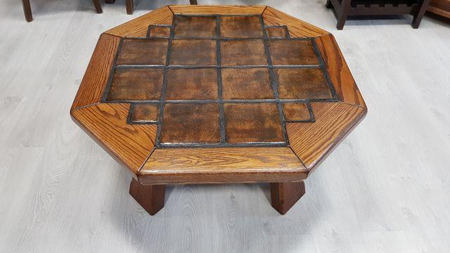 Mesa de Centro Rustica con Ceramica