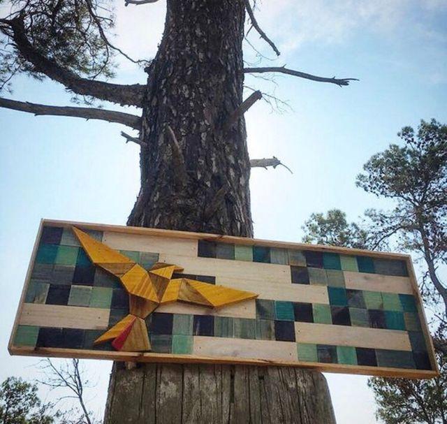 Cuadro decorativo de madera