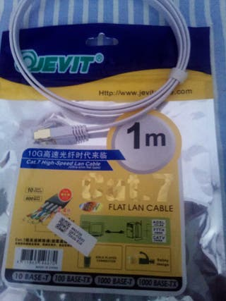 Cable ethernet...1metro,categoria 7.