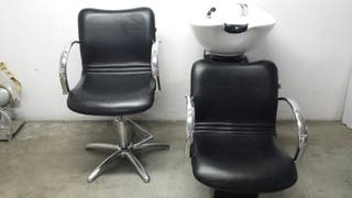 lavacabeza mas silla de peluqueria