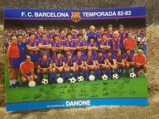POSTAL F.C. BARCELONA DANONE TEMPORADA 1982-83.