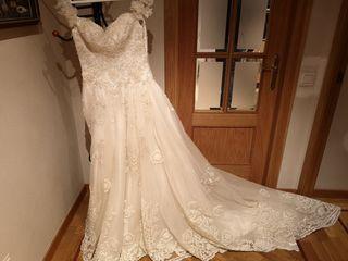 Vestido de boda segundo mano buen estado