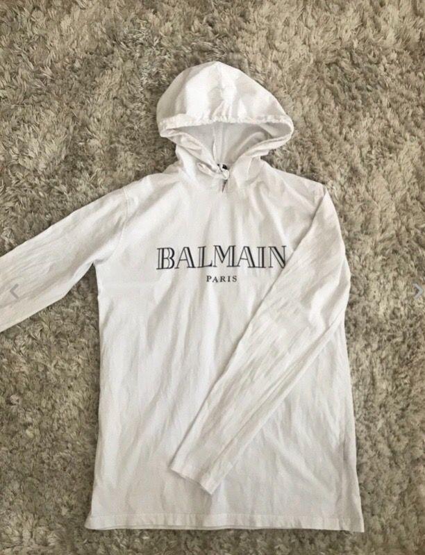White Balmain Hoodie