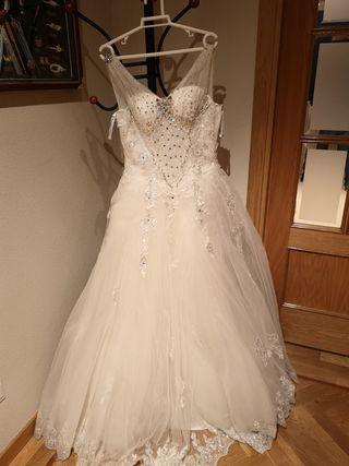 Vestido de boda buena calidad,segundo mano