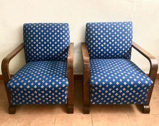 Sillones Art Decó restaurados y tapizados