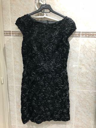 Vestido fiesta negro diseñadora oferta