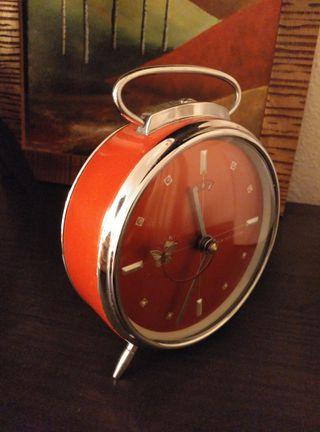 Despertador vintage antiguo.
