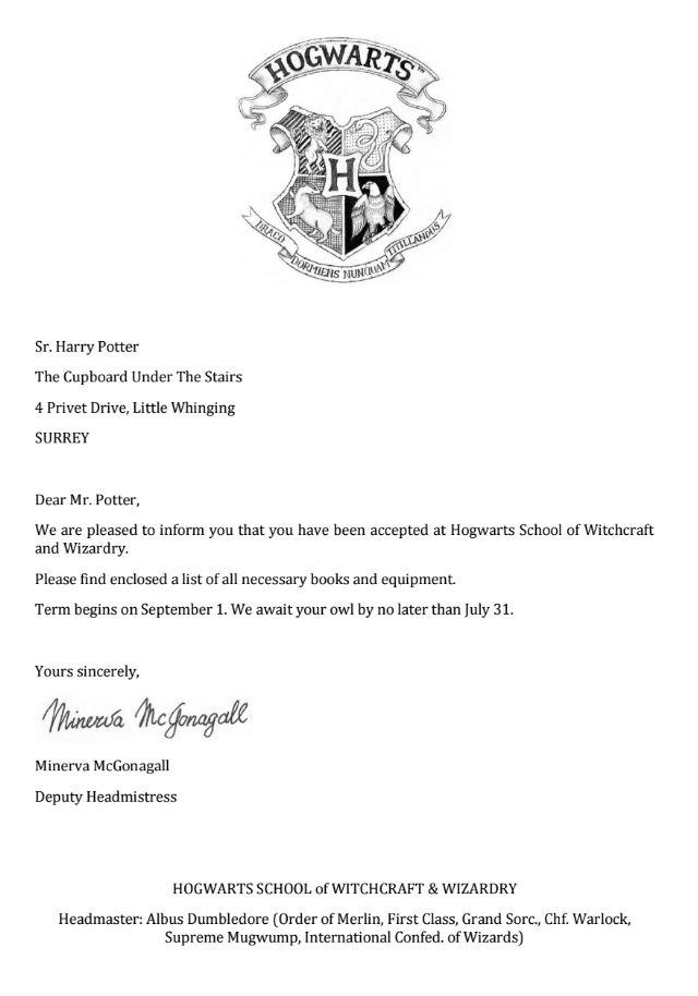 Carta Hogwarts Personalizada De Segunda Mano Por 10 En Córdoba En Wallapop