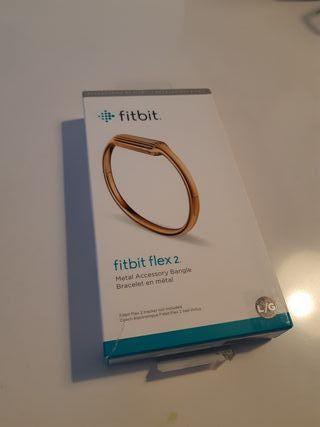 fitbit flex 2 pulsera en metal