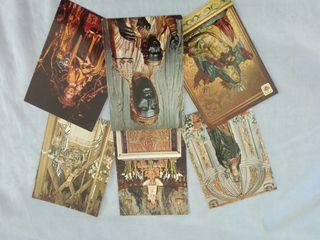 Antiguas postales de vírgenes