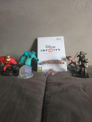 juego WII Infinity con figuras