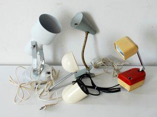 Lote de 4 lámparas que no funcionan. Originales
