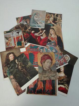Antiguas postales de Arte.