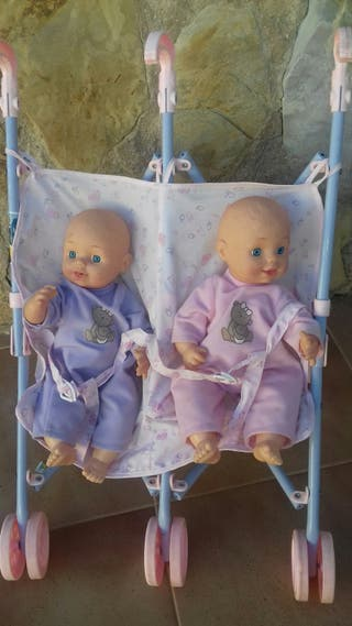 carrito muñecas gemelar