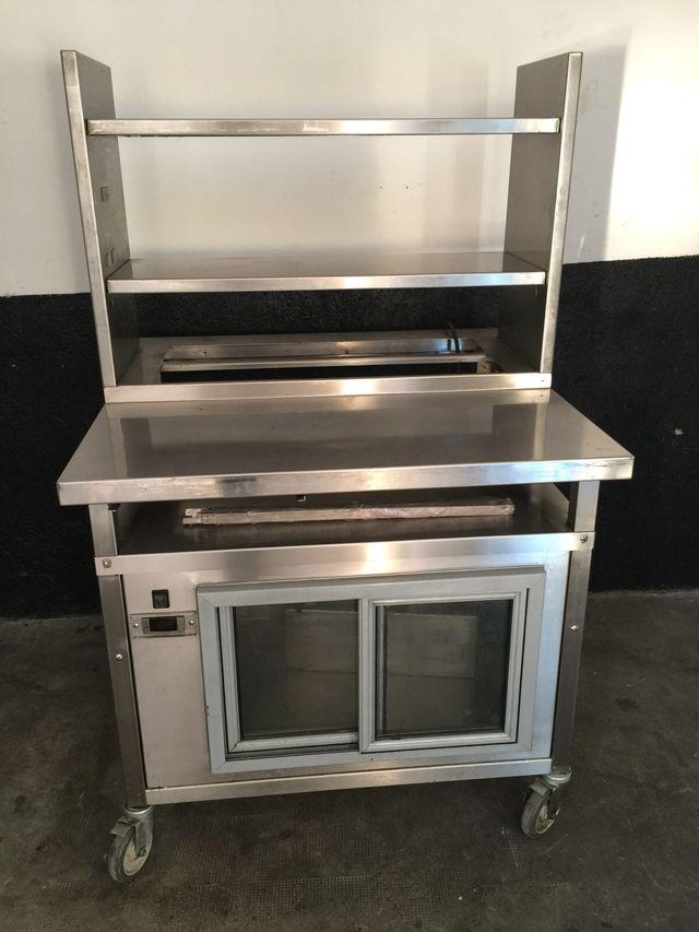 Mesa trabajo cocina con armario refrigerado de segunda mano por 290 ...