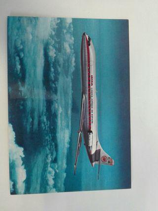 Antigua postal de avión.