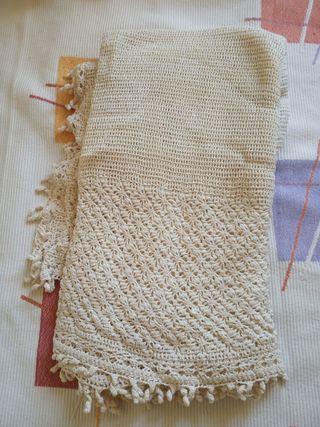 manta de ganchillo hecha a mano