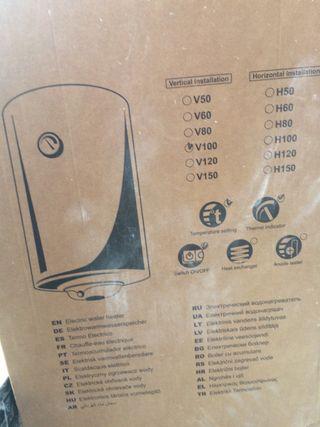 Caldera eléctrica 80 litros sin estrenar
