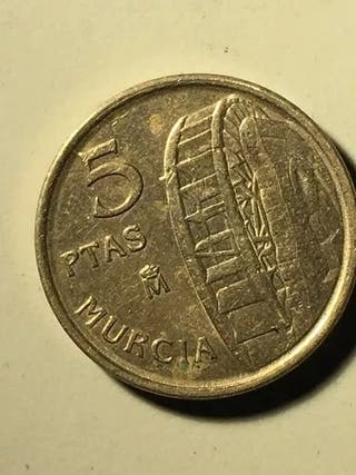 moneda 5 pesetas 1999 murcia