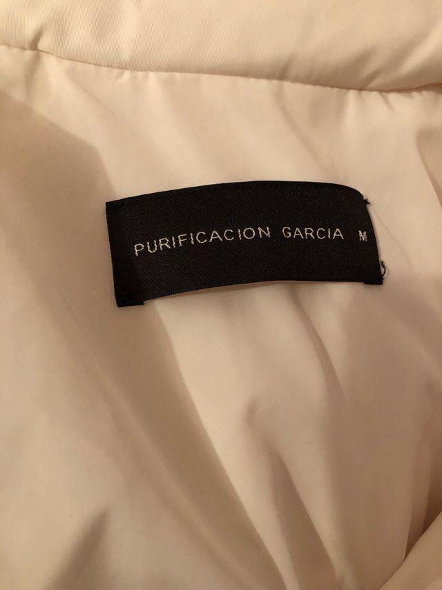 Cazadora plumas Purificación Garcia