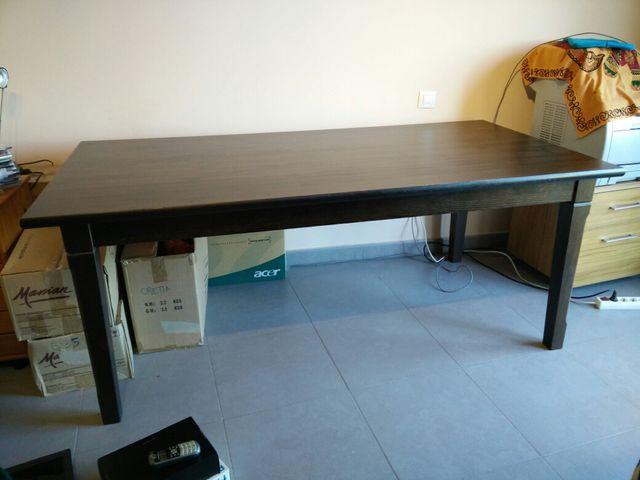 Mesa comedor madera Ikea 190x95x75 de segunda mano por 80 € en Sanet ...