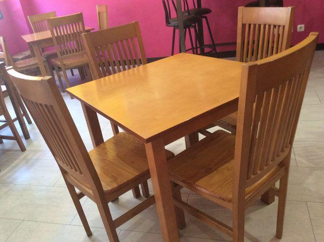 Mesas Y Sillas Para Restaurante Bar Cafeteria De Segunda Mano Por