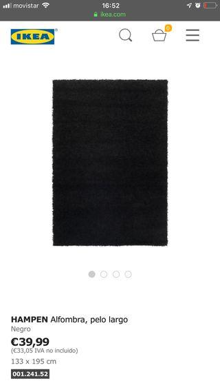 Alfombra negra ikea
