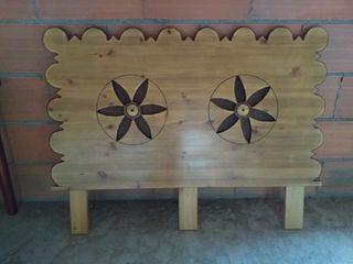Cabecero artesanal madera maciza