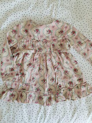 Vestido de flores Spantajaparos talla 1