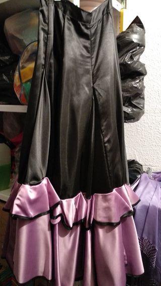 faldas de flamenco y mantón