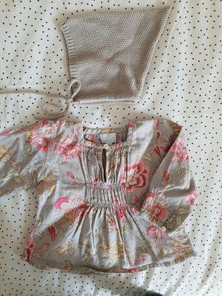 Blusa y capota Nicoli. Talla 1