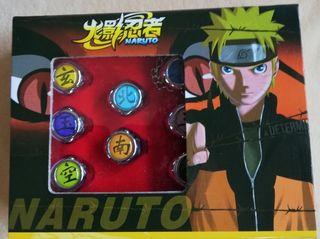 Pack anillos y colgante Naruto