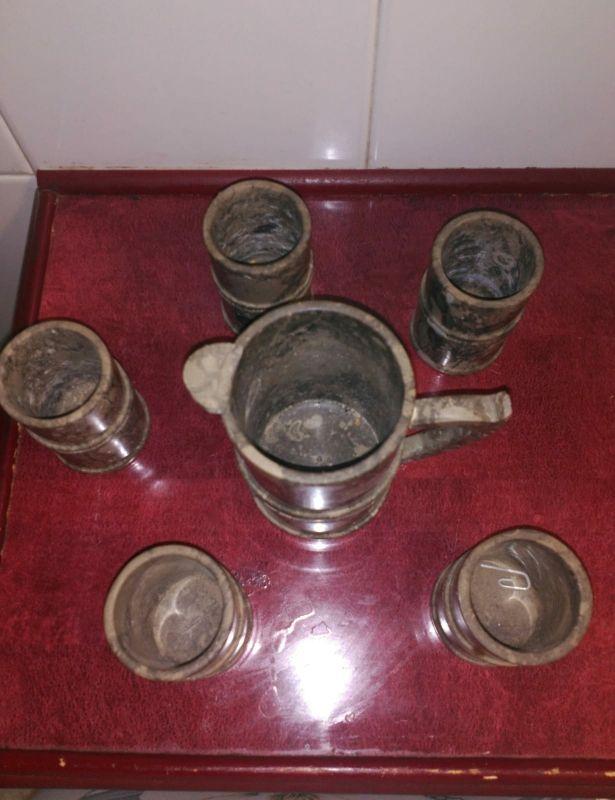 Jarra + Vasos de Piedra