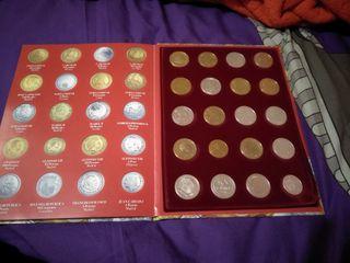 colección de monedas replicas bañadas en oro y pla