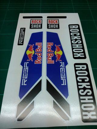kit pegatinas rock shox Reba redbull