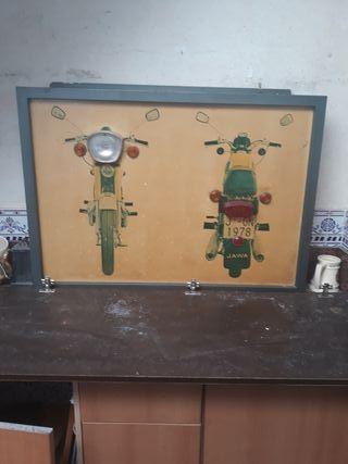 antiguo rotulo moto