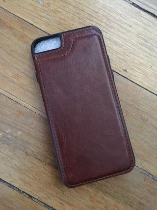 Funda de cuero para iPhone 6 6s 7
